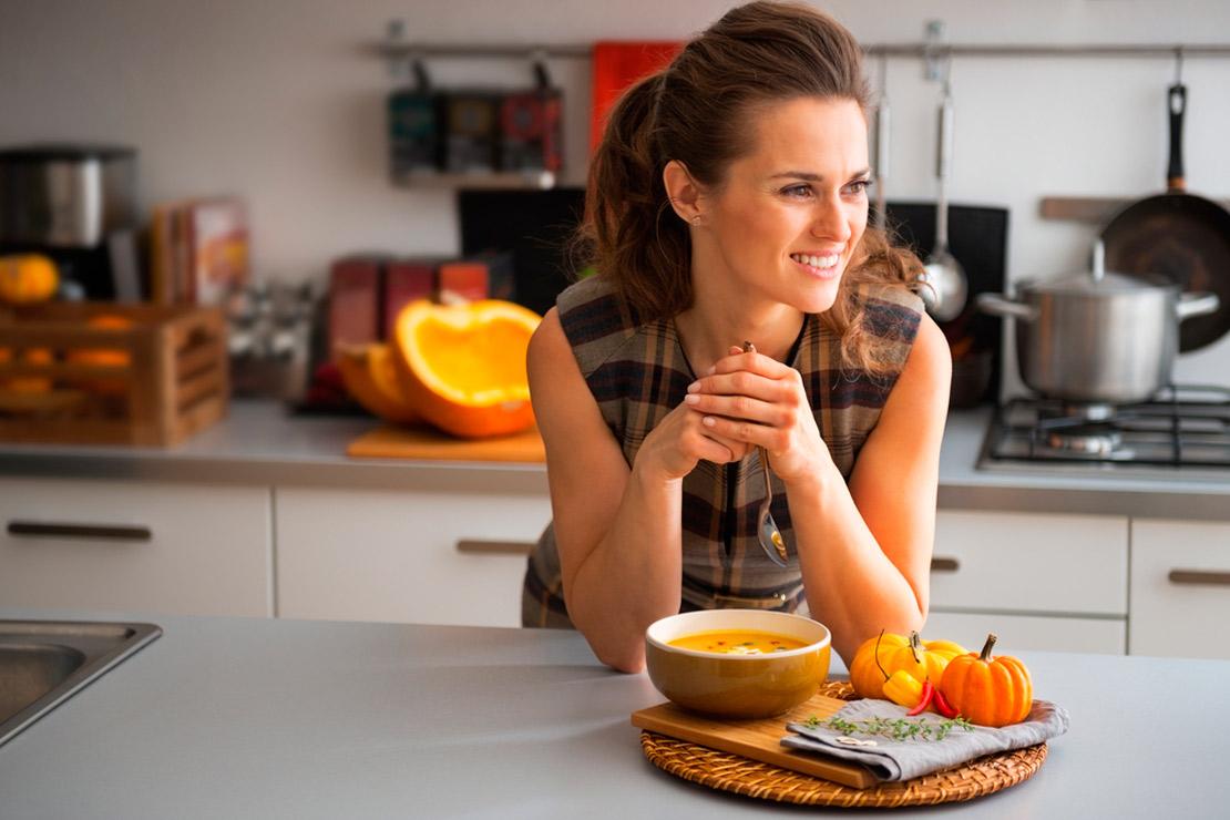 conseil pour perdre ses kils d'hiver: boire de la soupe