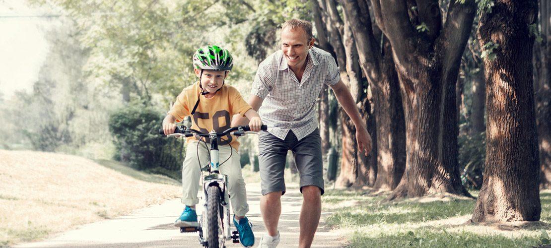 photo apprendre à faire du vélo