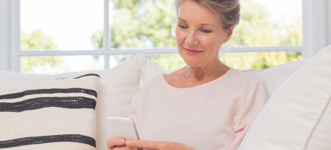 photo femme 50 ans sur GSM