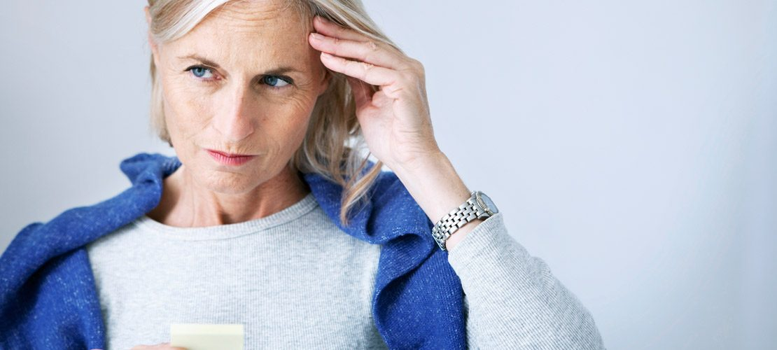 photo femme ayant problème de mémoire