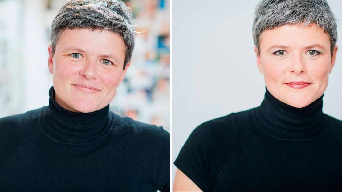 photo portrait femme maquillée
