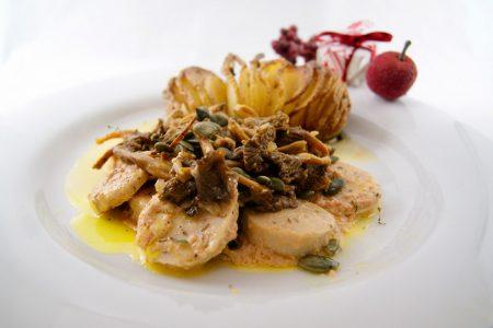 Recette: Chanterelles et boudin blanc, sauce foie gras, recette Noël, 50 ans,