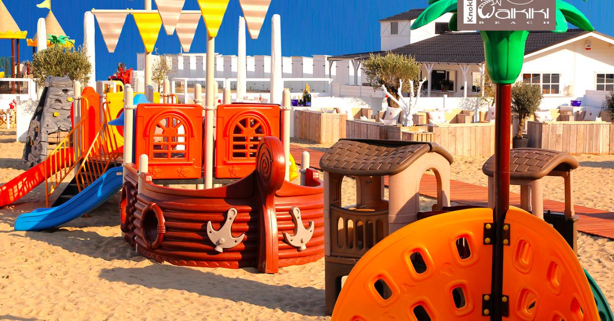 terrassen met speeltuin
